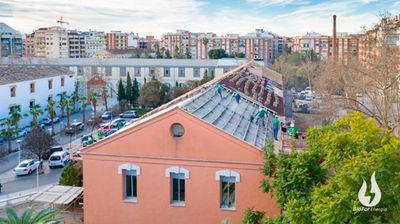 Sistema Integral de Cubierta Onduline en la rehabilitación energética de cubierta el Centro de Salud Padre Jofré de Valencia