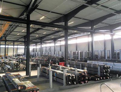 HTI Dinger & Hortmann, aumenta la eficiencia de sus procesos logísticos con su nuevo almacén central de tubos en Chemnitz