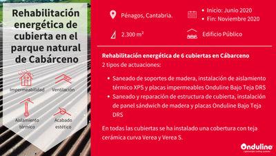Rehabilitación energética e impermeabilización de tejados del Parque de la Naturaleza de Cabárceno con el sistema Onduline Bajo Teja DRS