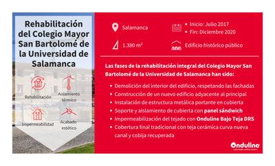 Proyecto Onduline: Rehabilitación integral de cubierta del Colegio Mayor de la Universidad de Salamanca