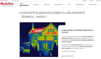 Onduline presenta un Blog para los profesionales del sector de la edificación y de la cubierta