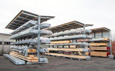 Obenauf almacena maderas de hasta 13 metros en estanterías cantiléver de OHRA