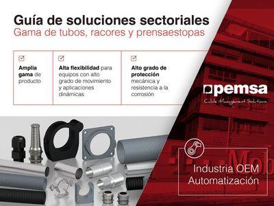 Descubre la amplia gama de tubos para la Industria OEM y de automatización de PEMSA