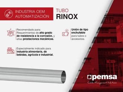 Tubo RINOX de Pemsa, perfecto para aplicaciones que requieran de un alto componente estético